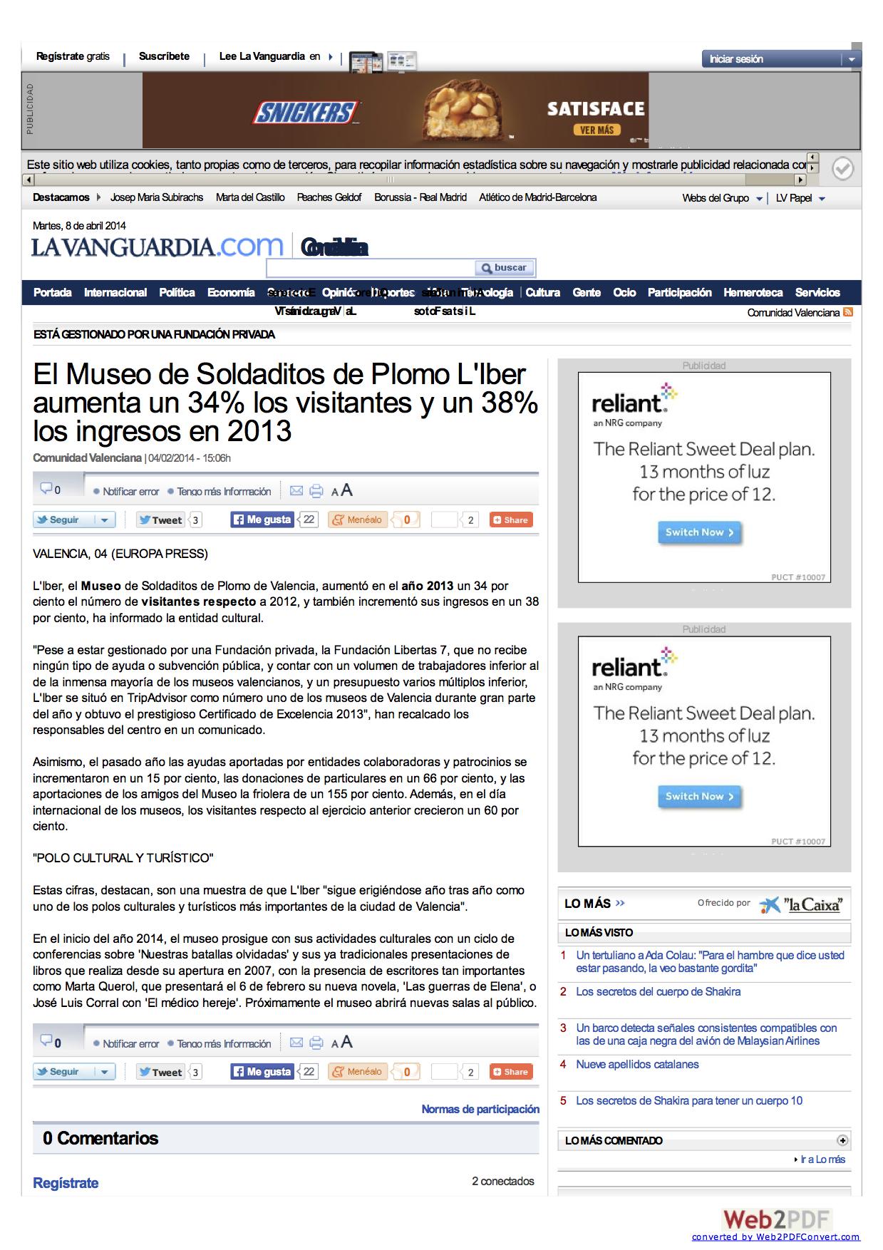 La Vanguardia Febrero 2014