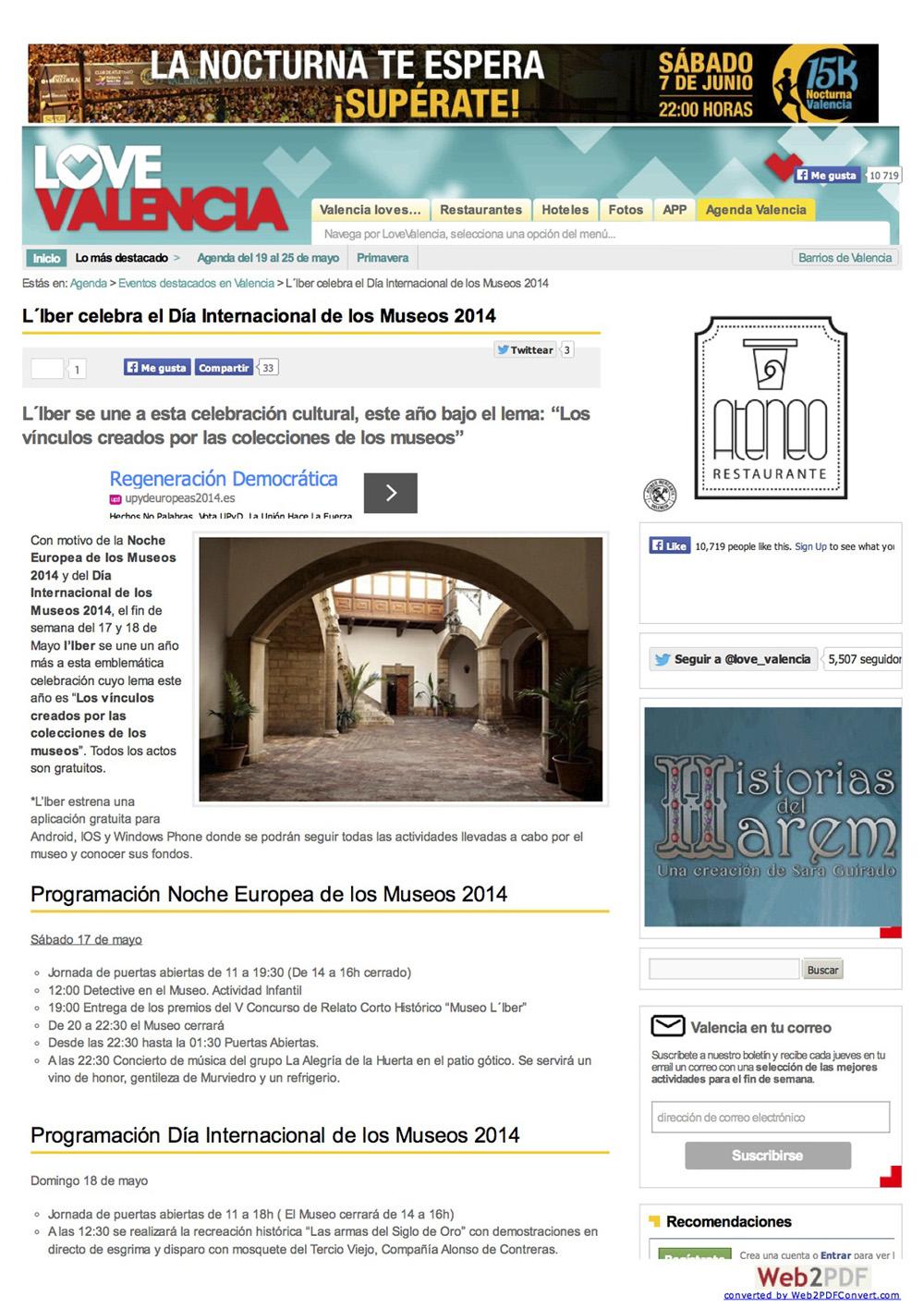 Love Valencia Mayo de 2014
