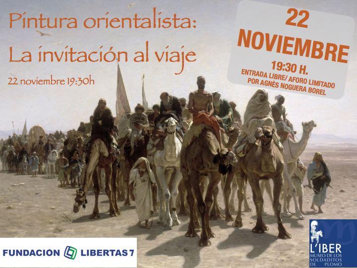 """Pintura orientalista """"La invitación al viaje"""" Museo L'Iber Valencia"""