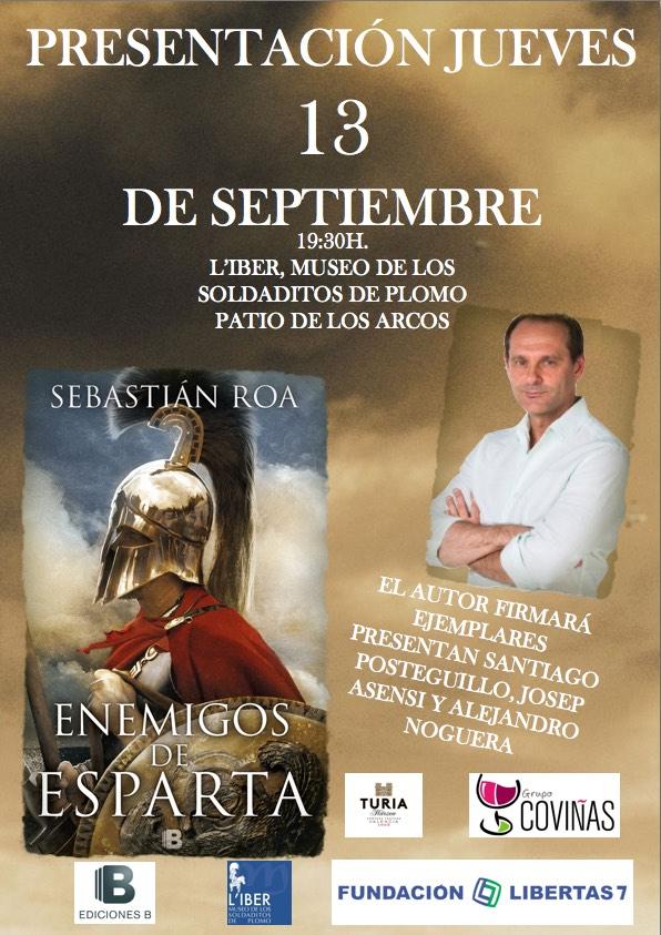"Presentación ""Enemigos de Esparta"" de Sebastián Roa."