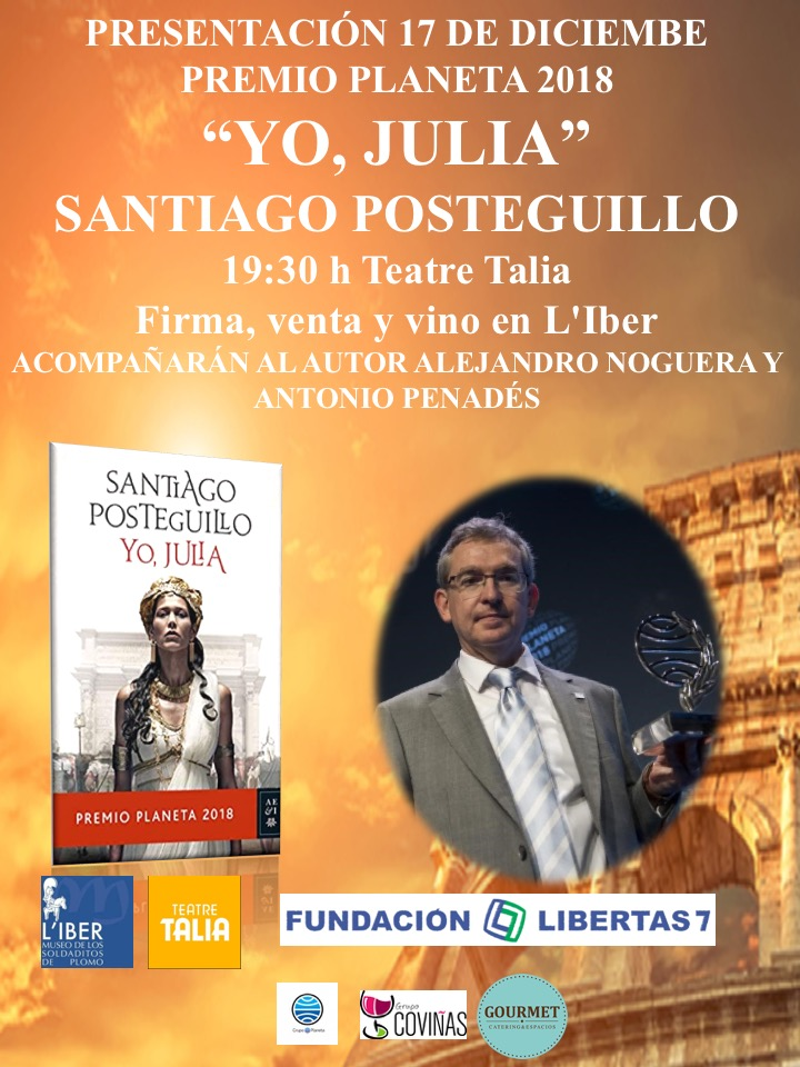 Cartel Presentacion Posteguillo yo Julia Museo L'Iber Valencia libros