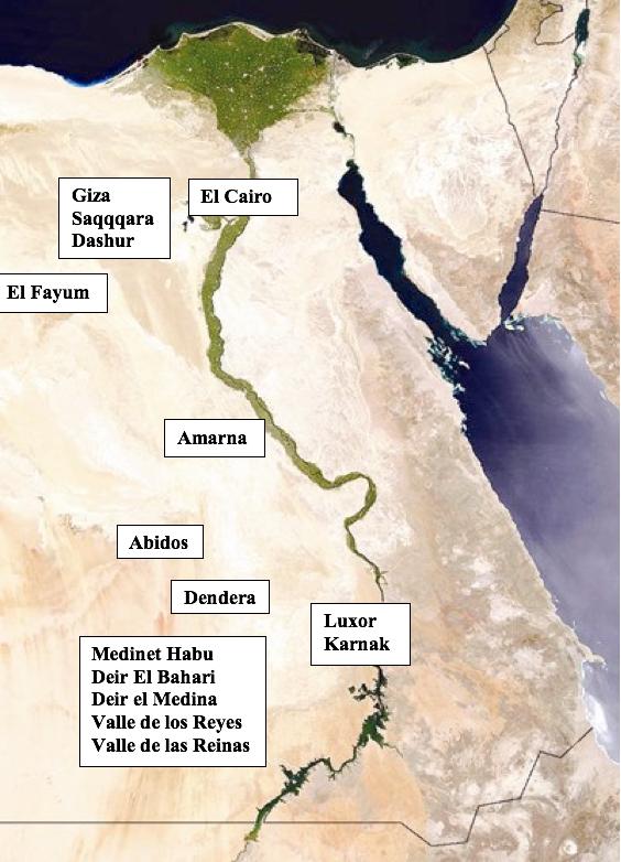Mapa Egipto Viaje L'Iber