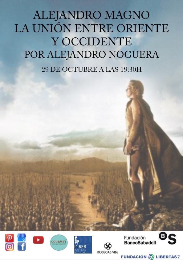 Conferencia Alejandro magno en Liber