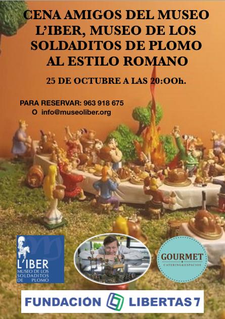 Cena amigos del museo L'Iber, Museo de los soldaditos de plomo al estilo romano