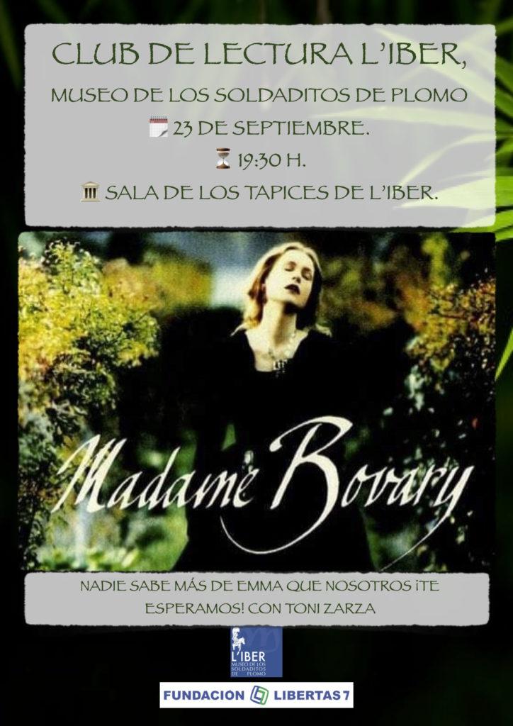 Club de lectura sobre el libro Madame Bovary escrita por Gustave Flaubert