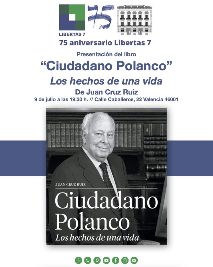 """Presentación del libro """"Ciudadano Polanco"""" los hechos de una vida, escrito por Juan Cruz."""